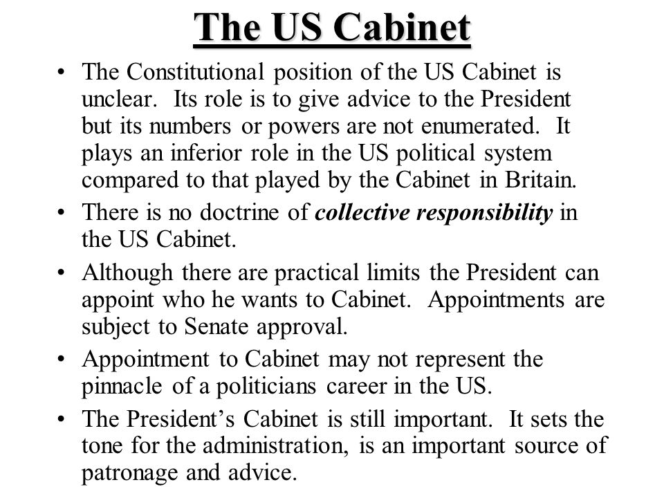 The US President. Formal Powers of the President Although the most ...