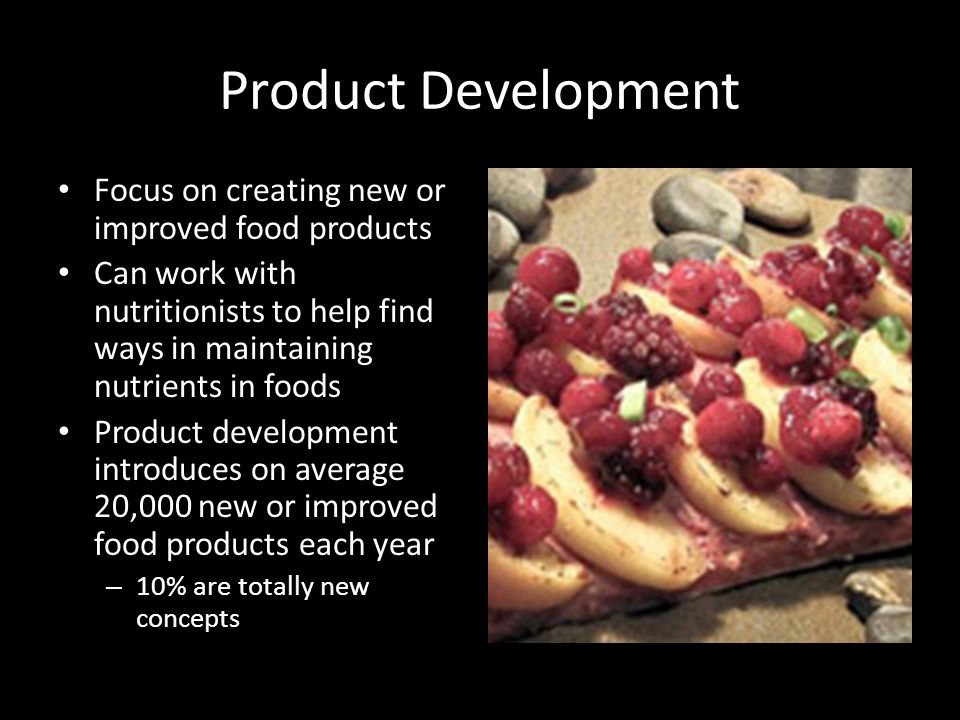 Intro to food science careers objectives make students aware of 3 product development forumfinder Image collections
