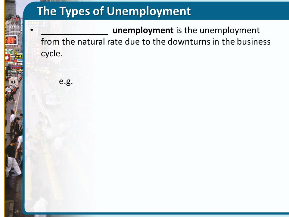 ______________ unemployment is the unemployment from the natural rate due to the downturns in the business cycle.