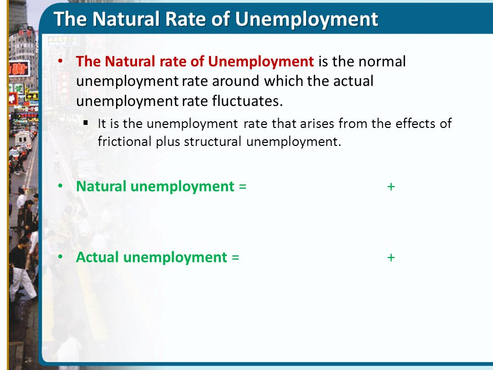 The Natural Rate of Unemployment The Natural rate of Unemployment is the normal unemployment rate around which the actual unemployment rate fluctuates.