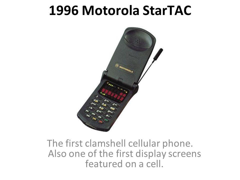 first motorola startac. 1996 motorola startac the first clamshell cellular phone. startac g