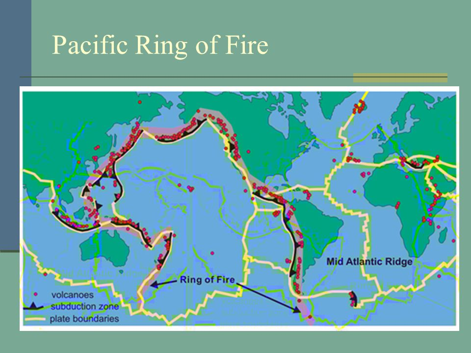 Does the Ring of Fire count as a geographical feature?