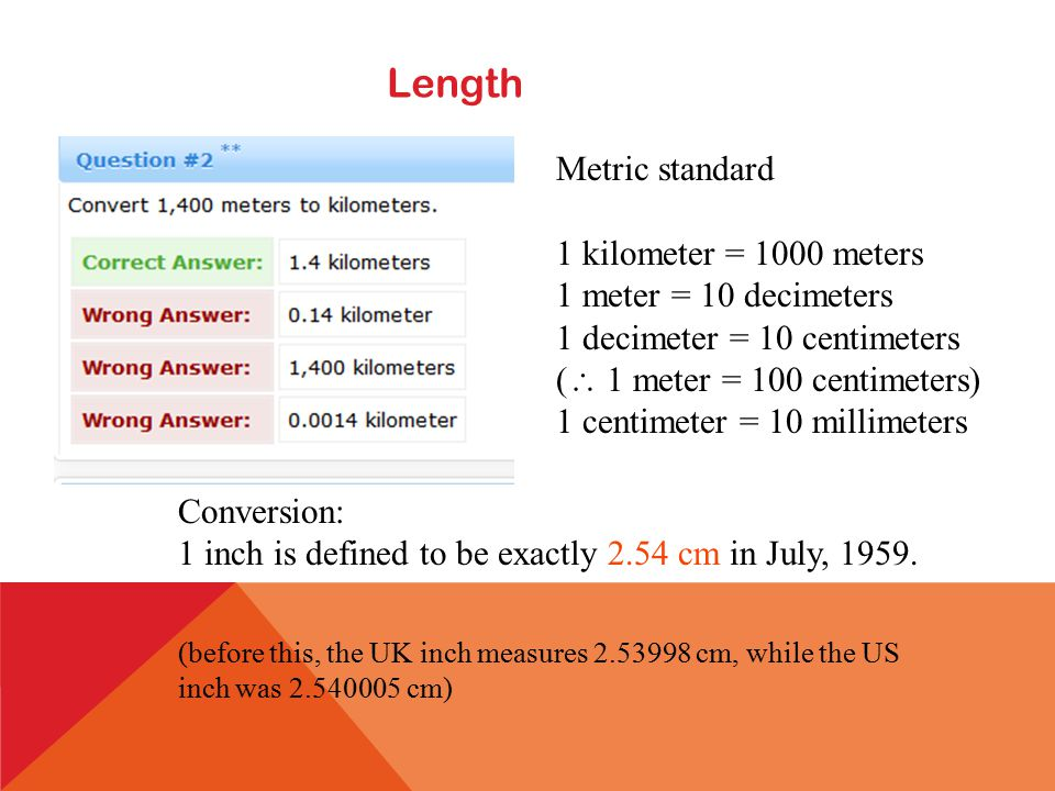 UNIT 2 REVIEW CUSTOMARY LENGTH 12 inches (in) = 1 foot (ft) 36 ...