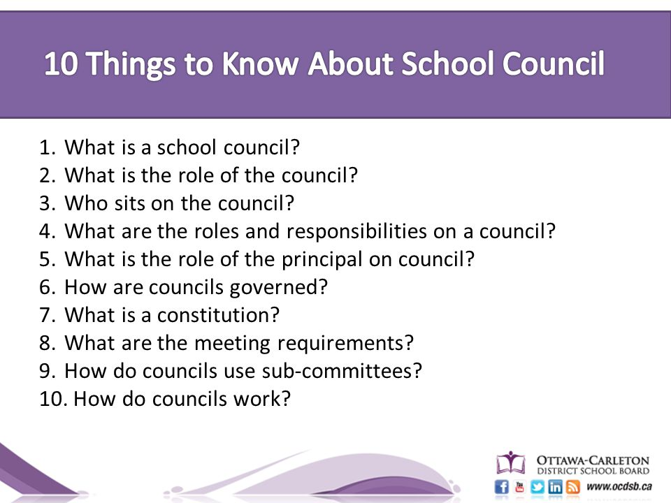1.What is a school council. 2.What is the role of the council.