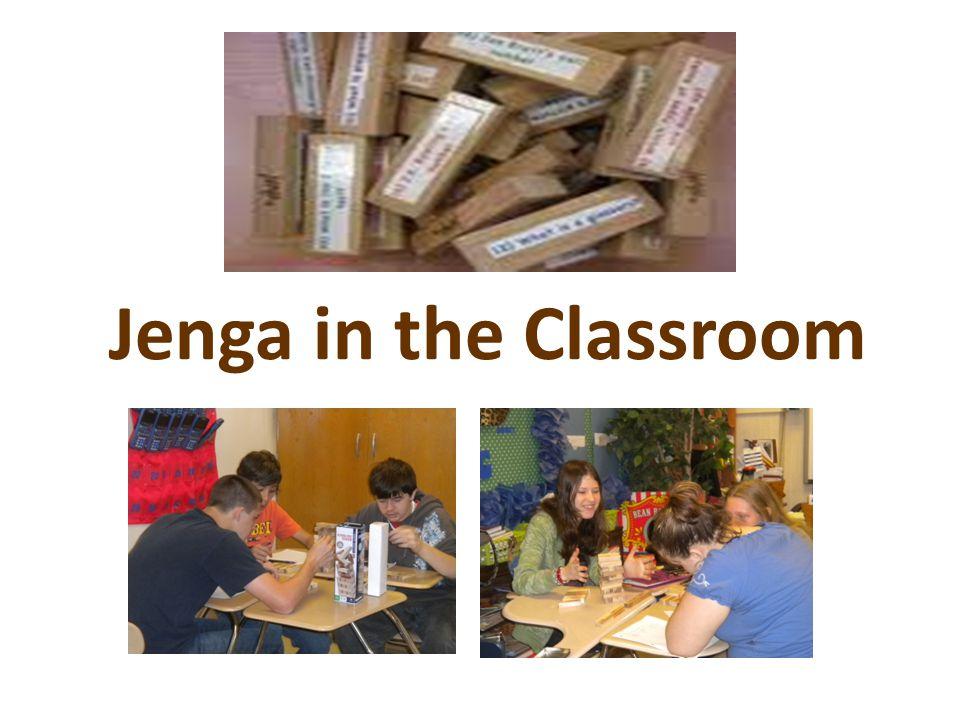 Jenga in the Classroom
