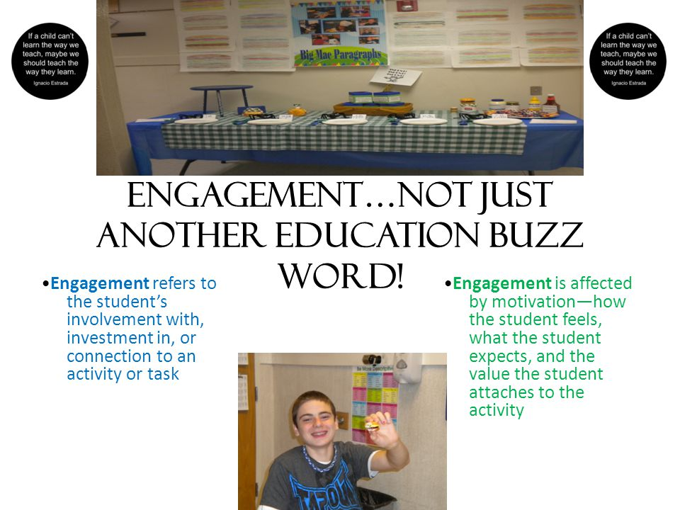 Engagement…not just another education buzz word.