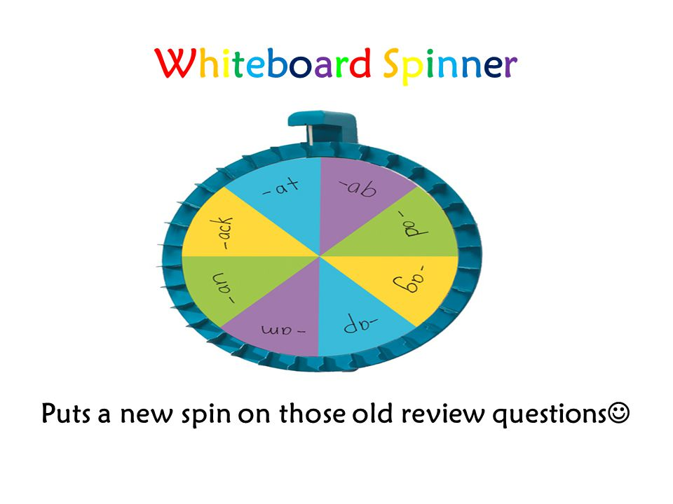 Whiteboard SpinnerWhiteboard Spinner Puts a new spin on those old review questions
