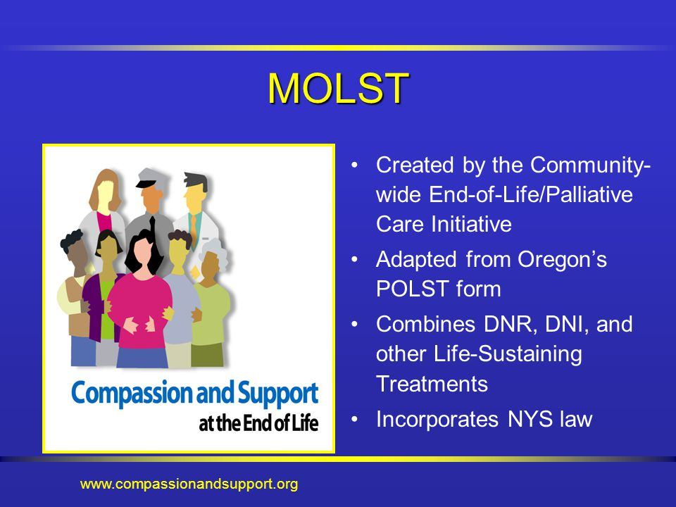 Medical Orders for Life-Sustaining Treatments MOLST Staff ...