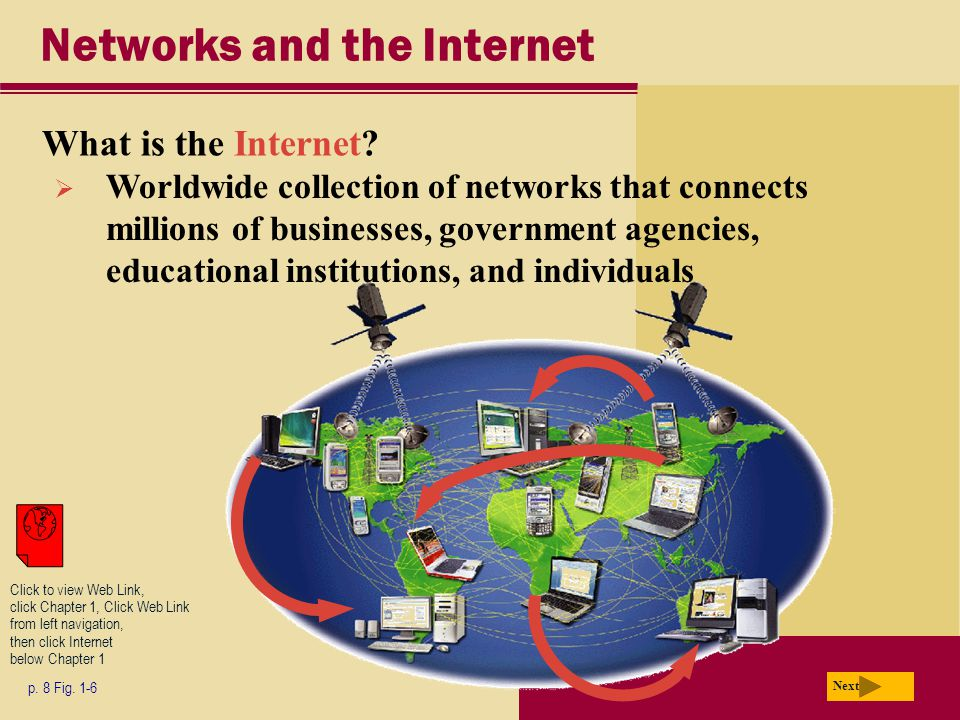Networks and the Internet What is the Internet. p.