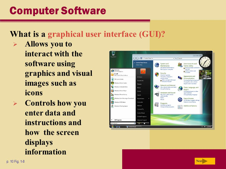 Computer Software What is a graphical user interface (GUI).