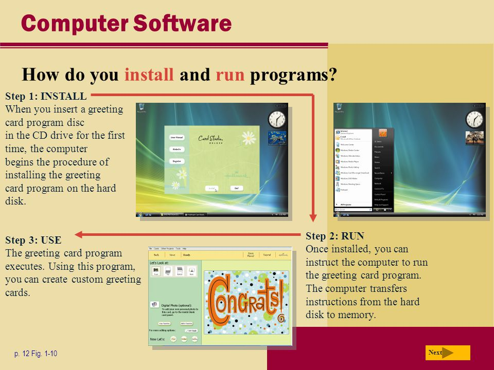 Computer Software How do you install and run programs.