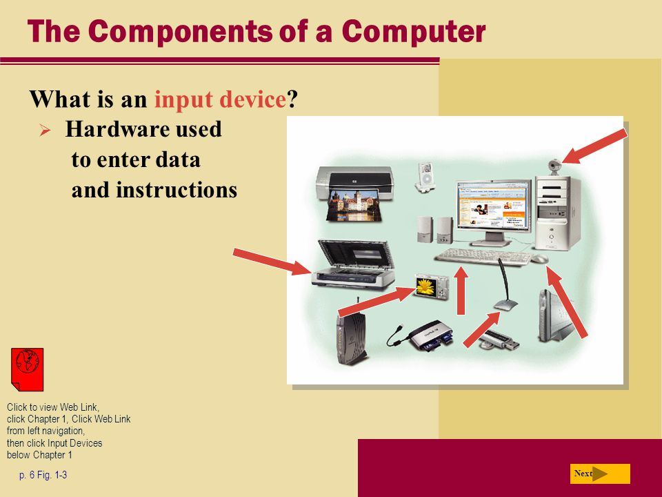 The Components of a Computer What is an input device.
