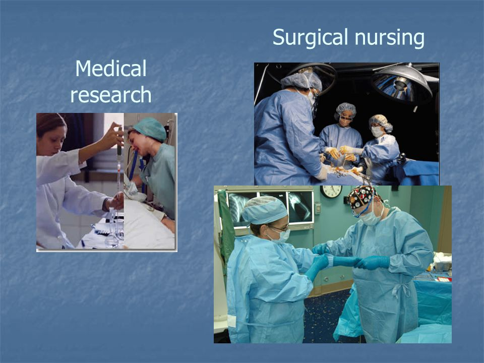 Surgical nursing Medical research