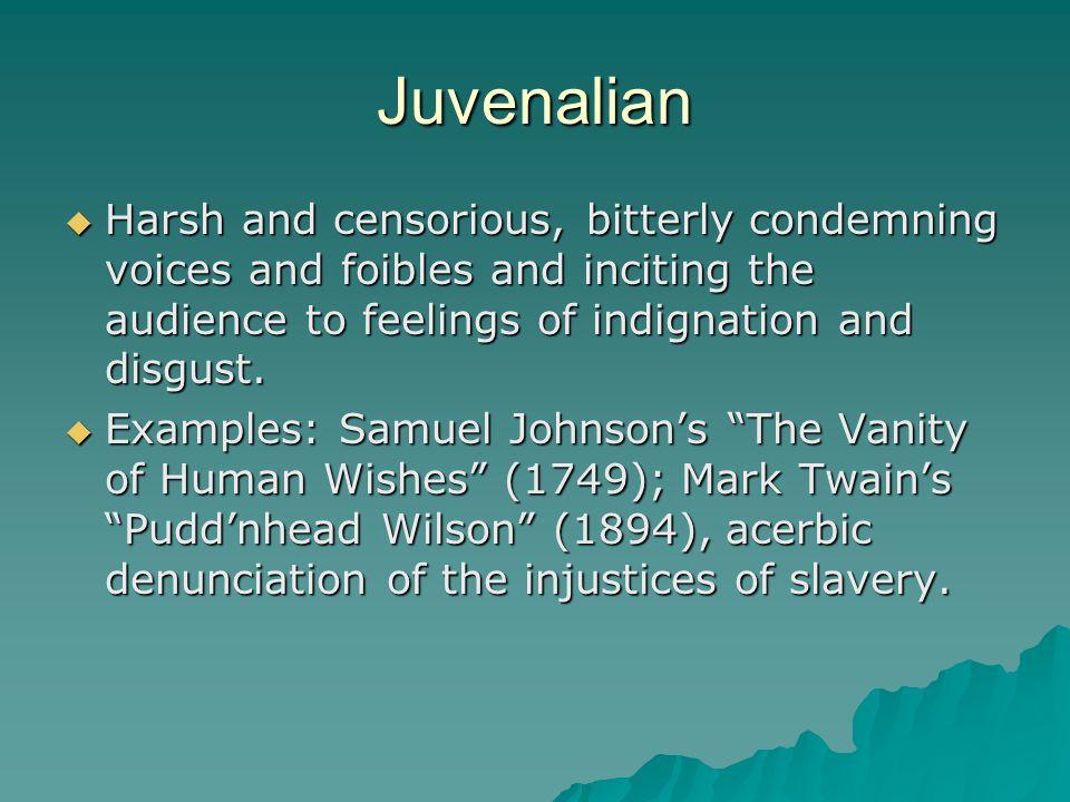 juvenalian satire example