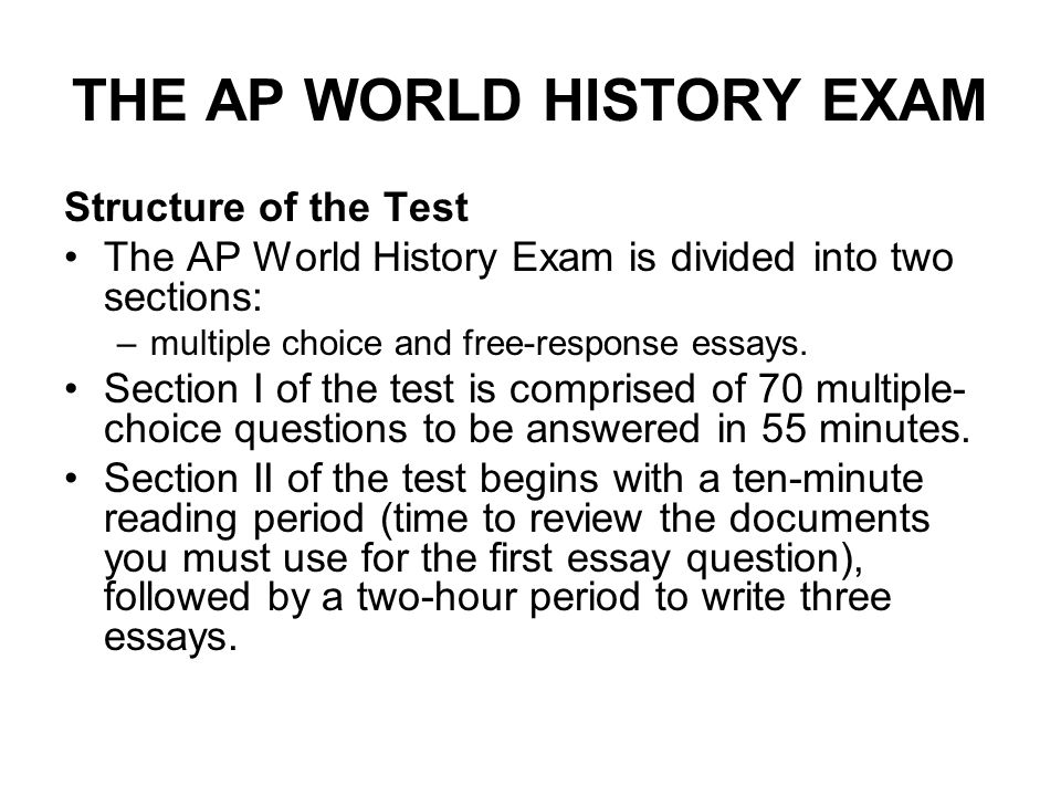 "cracking"" the ap world history exam questions the ap world  the ap world history exam structure of the test the ap world history exam is divided"