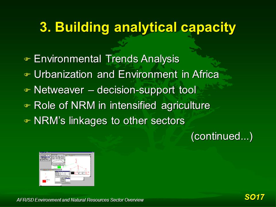AFR/SD Environment and Natural Resources Sector Overview 3.