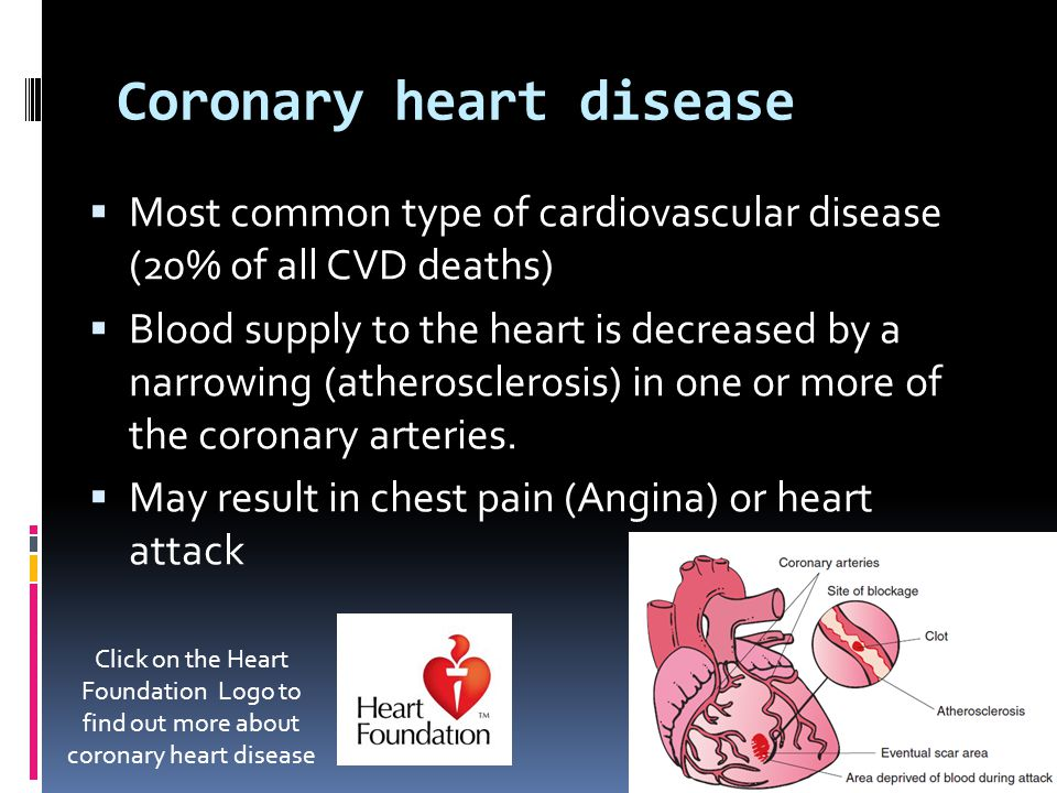 Core 1 HSC PDHPE The nature of cardiovascular disease  What are ...