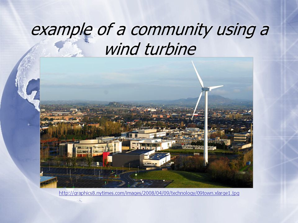 example of a community using a wind turbine