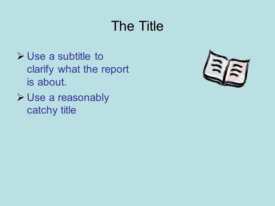 Essay Subtitle Example