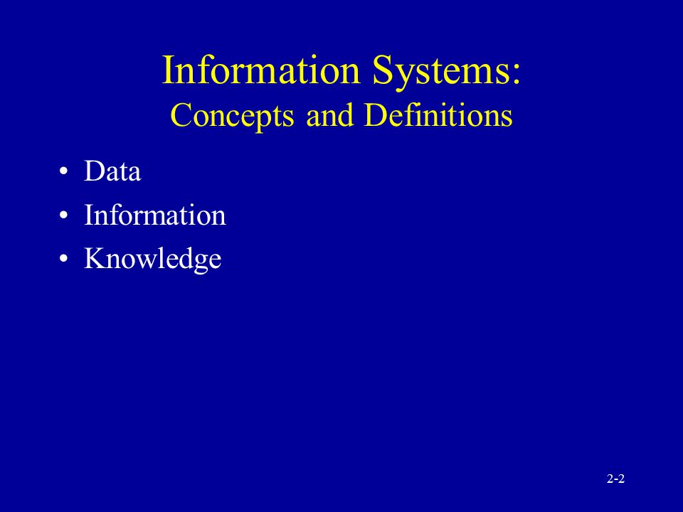 2-1 Information Technologies Concepts and Management