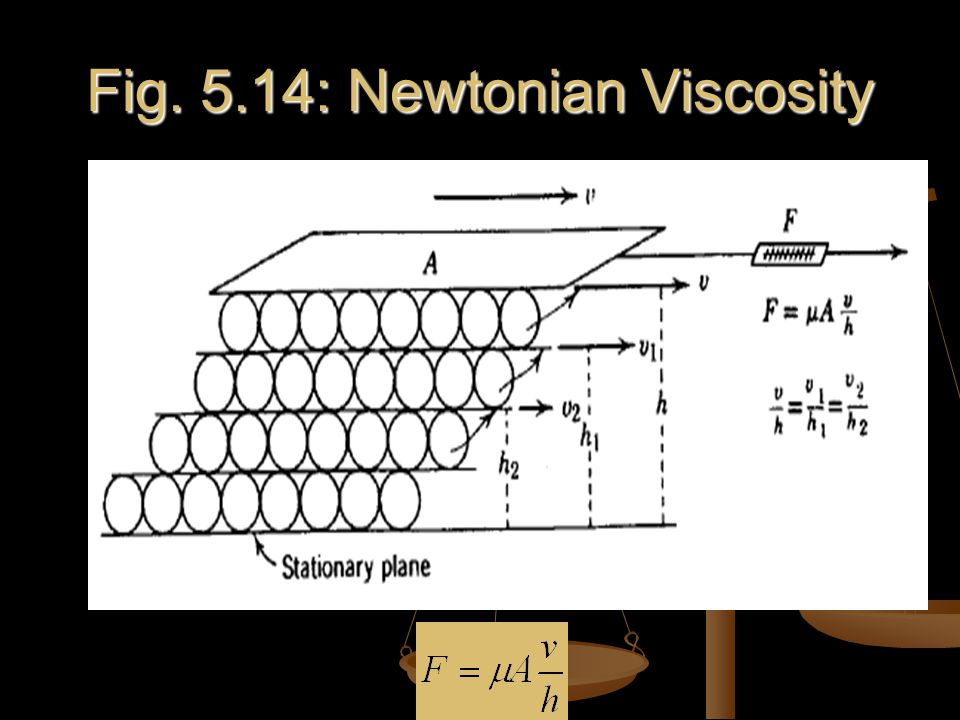 Fig. 5.14: Newtonian Viscosity