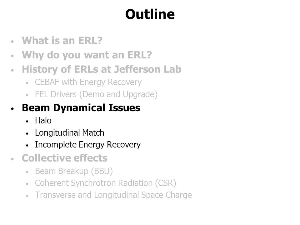 Outline What is an ERL. Why do you want an ERL.