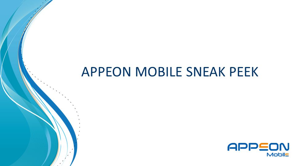 APPEON MOBILE SNEAK PEEK