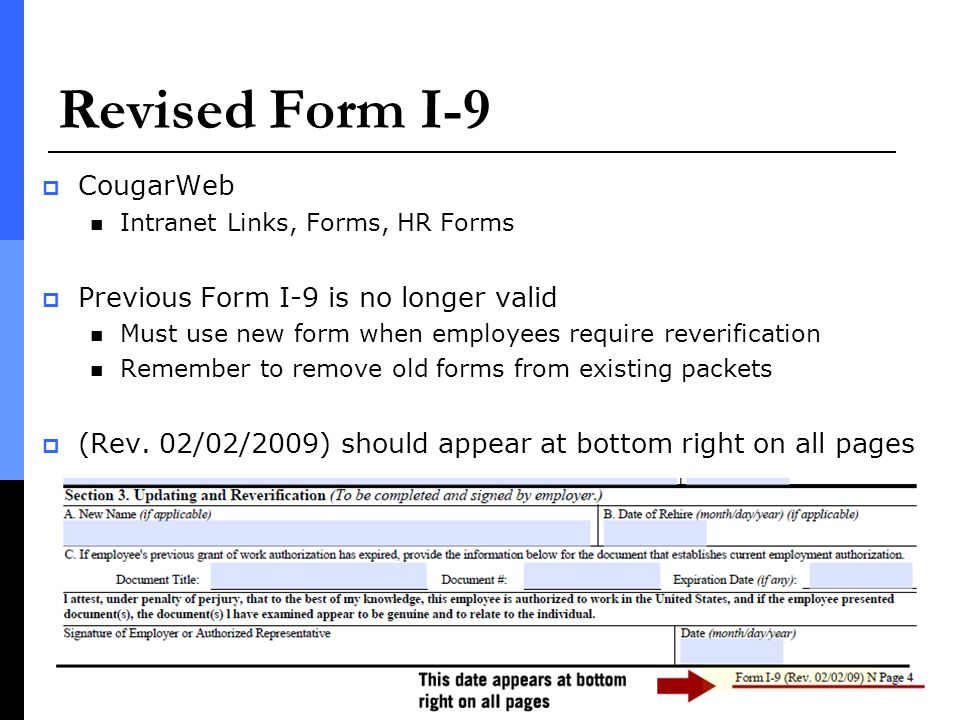 New Form I Regulations Effective April  Ppt Download