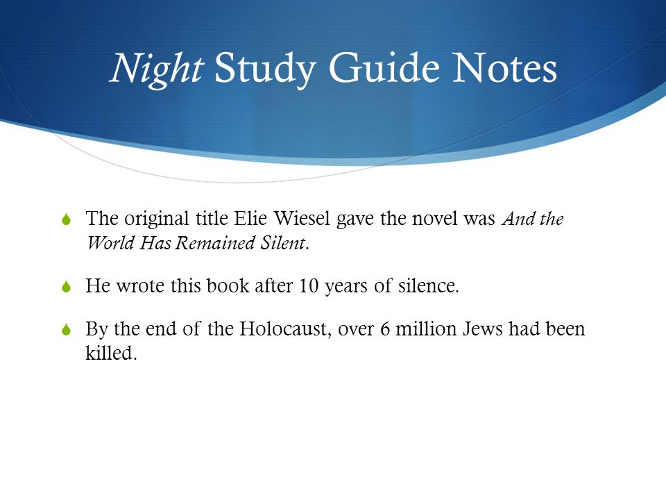 essay for the night by elie wiesel