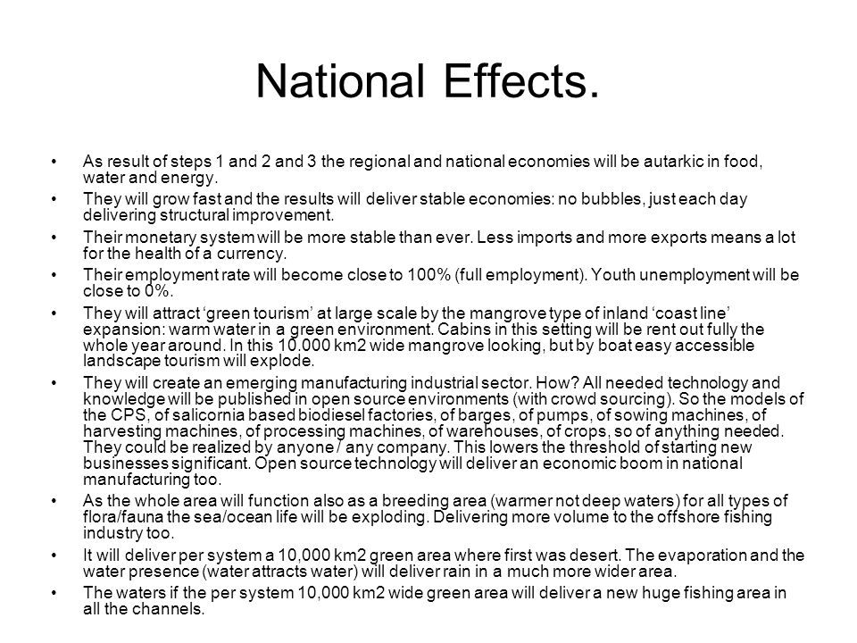National Effects.