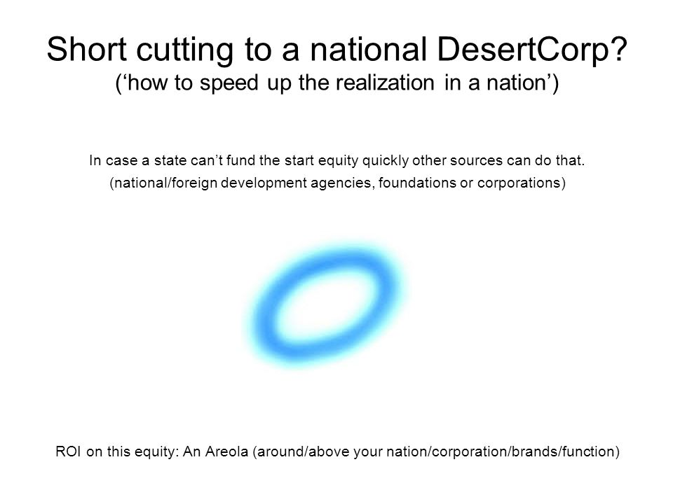Short cutting to a national DesertCorp.