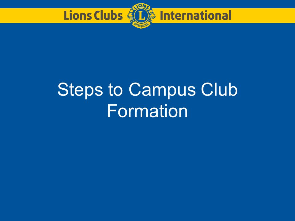Steps to Campus Club Formation