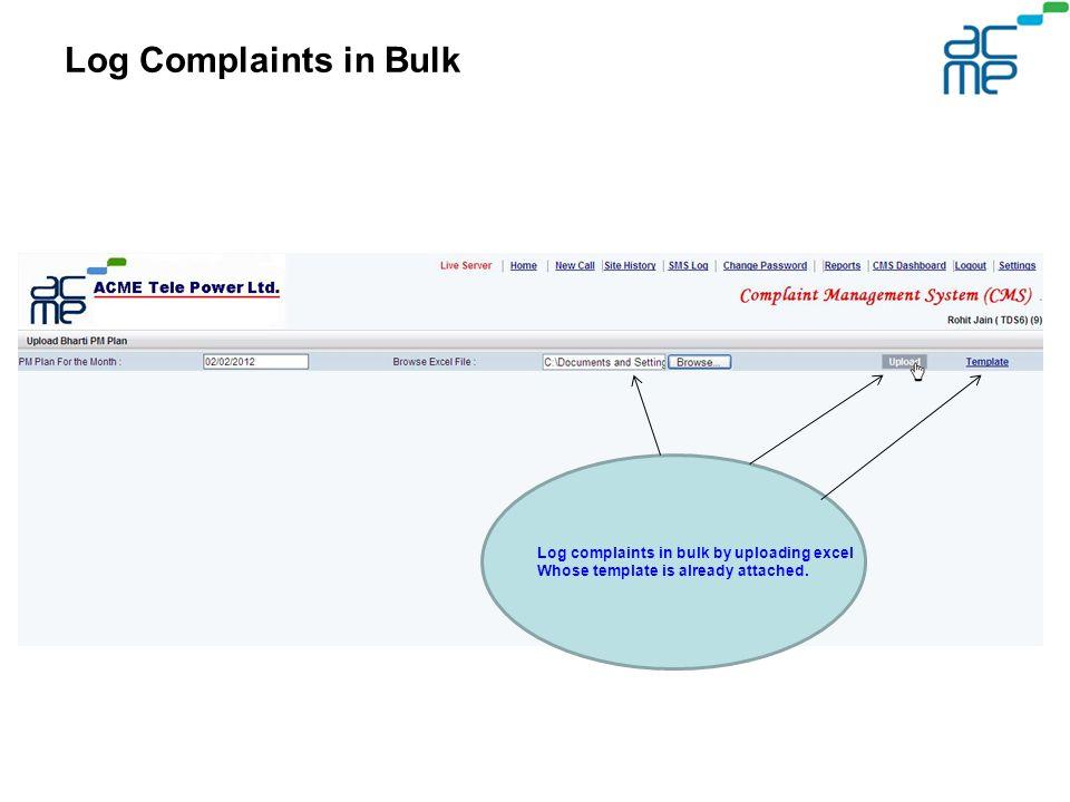 customer complaint log template