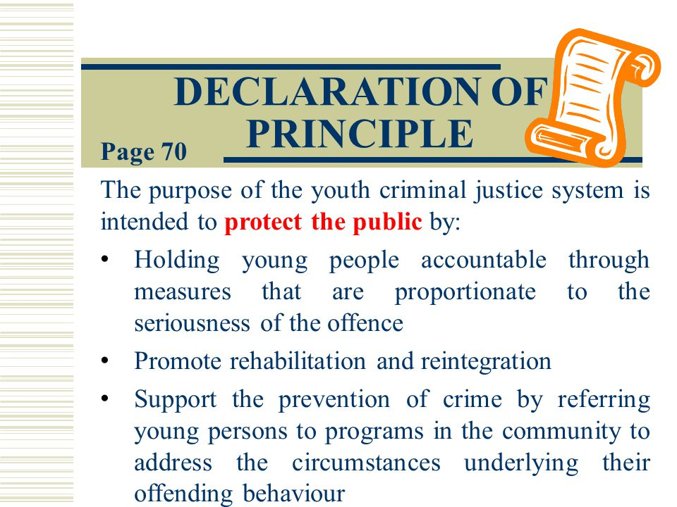 a comparison of the young offenders act versus the youth criminal justice act Differences between youth and adult criminal justice systems the youth criminal justice act says the youth and adult criminal justice systems must be kept separate youth and adults are treated differently when they go through the criminal justice system this section describes some of the ways the youth justice system is different from.