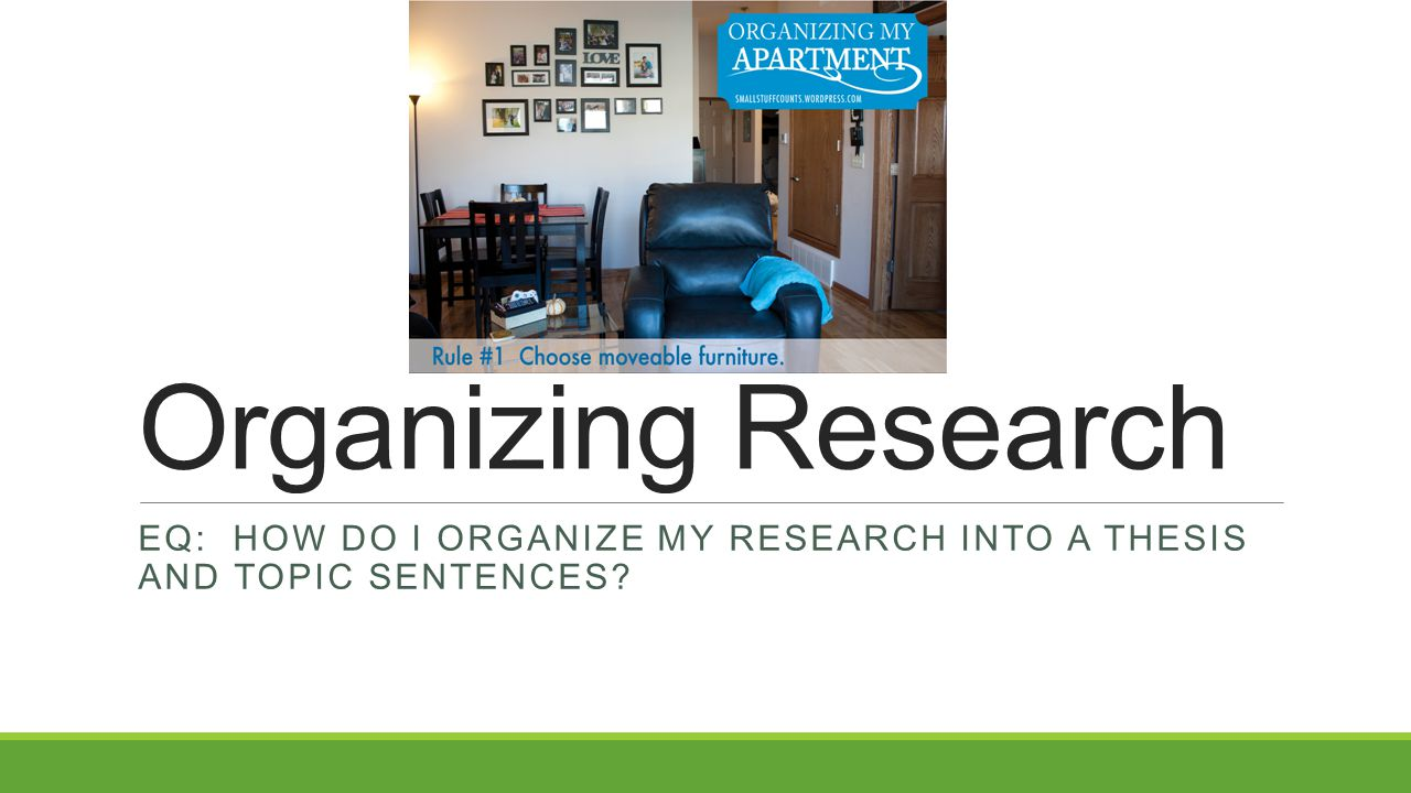 How should I organize my research paper?