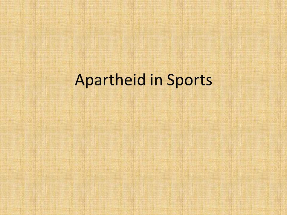 Apartheid in Sports