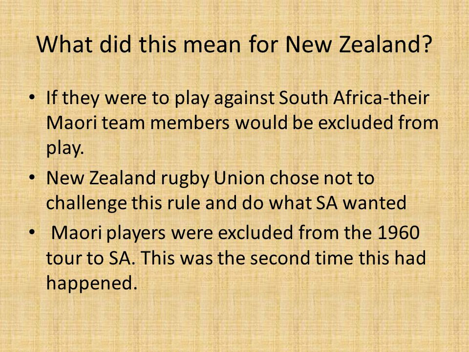 What did this mean for New Zealand.