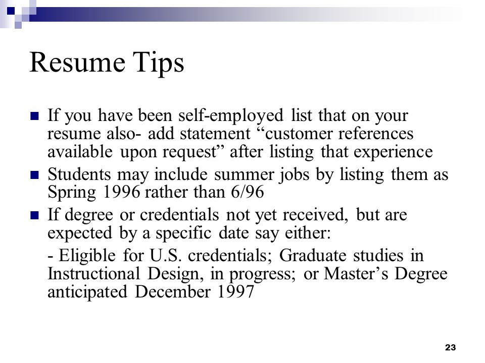 resume - How To Write Your Degree On Resume