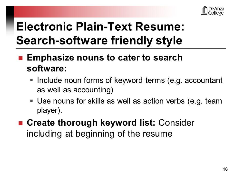 resume noun