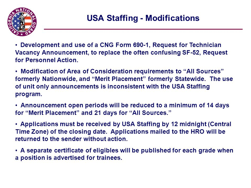 USA Staffing The Directorate for Human Resources is committed to ...