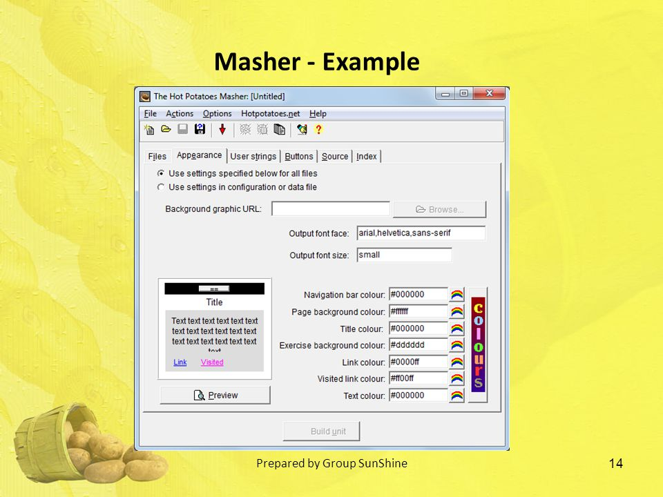 14 Masher - Example Prepared by Group SunShine