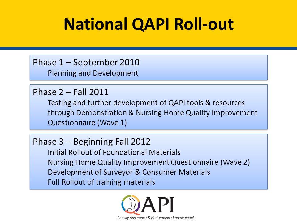 Nursing Home QAPI Webinar November 14 Introductions Opening