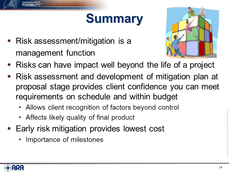 Don Cole Risk Assessment And Mitigation Project Management For Ara