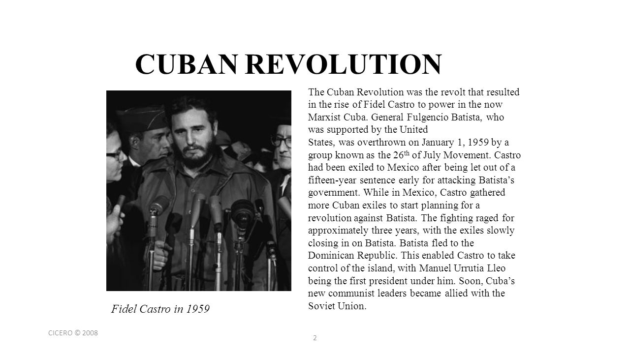 fidel castros revolution essay The effect fidel castros 1959 revolution had on latin american countries essay example show related essays the effect fidel castros 1959 revolution had on latin.