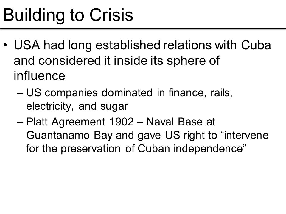 Cuban missile crisis what was the origin of the crisis why was it 2 usa platinumwayz