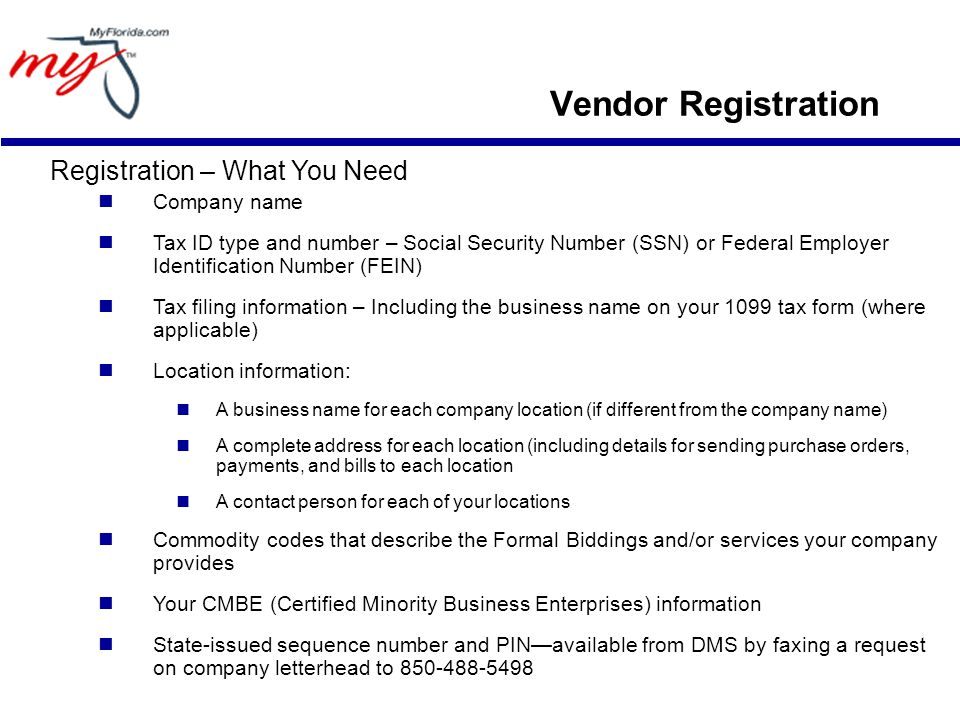 Vendor Registration Vendor Registration. Registration – What You ...