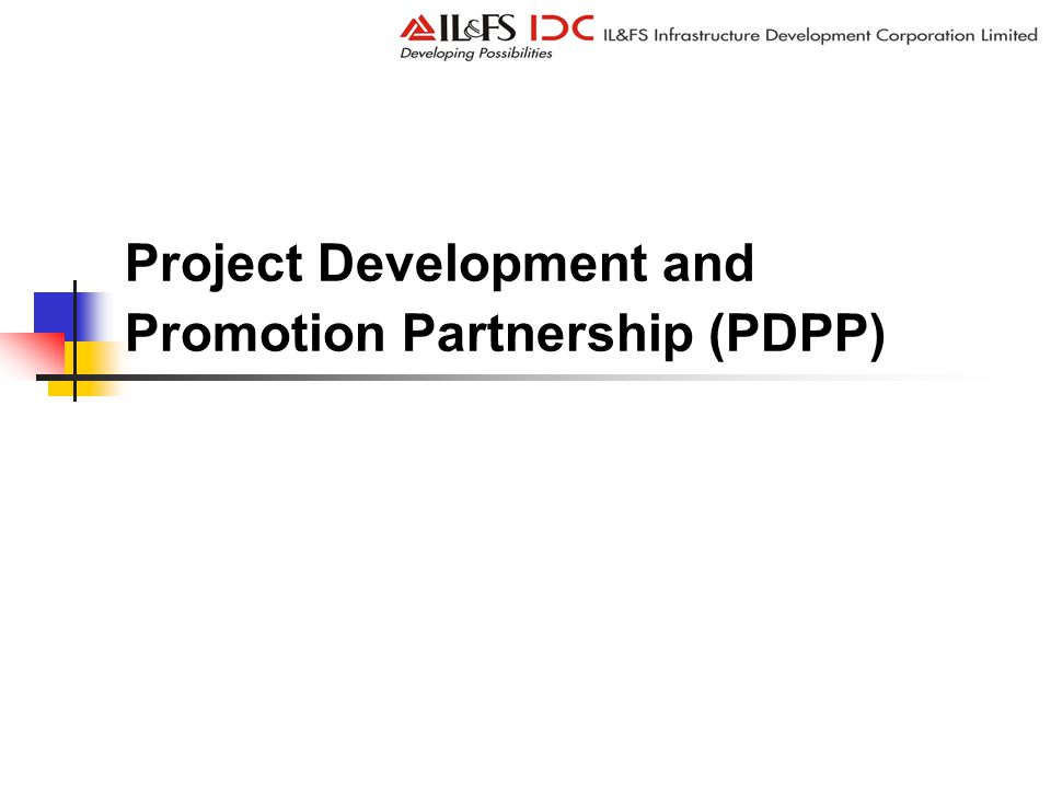 Project Development and Promotion Partnership (PDPP)