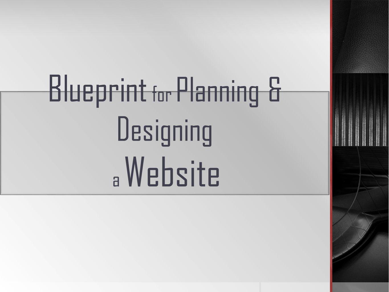 Blueprint for planning designing a website a well organized 1 blueprint for planning designing a website malvernweather Images
