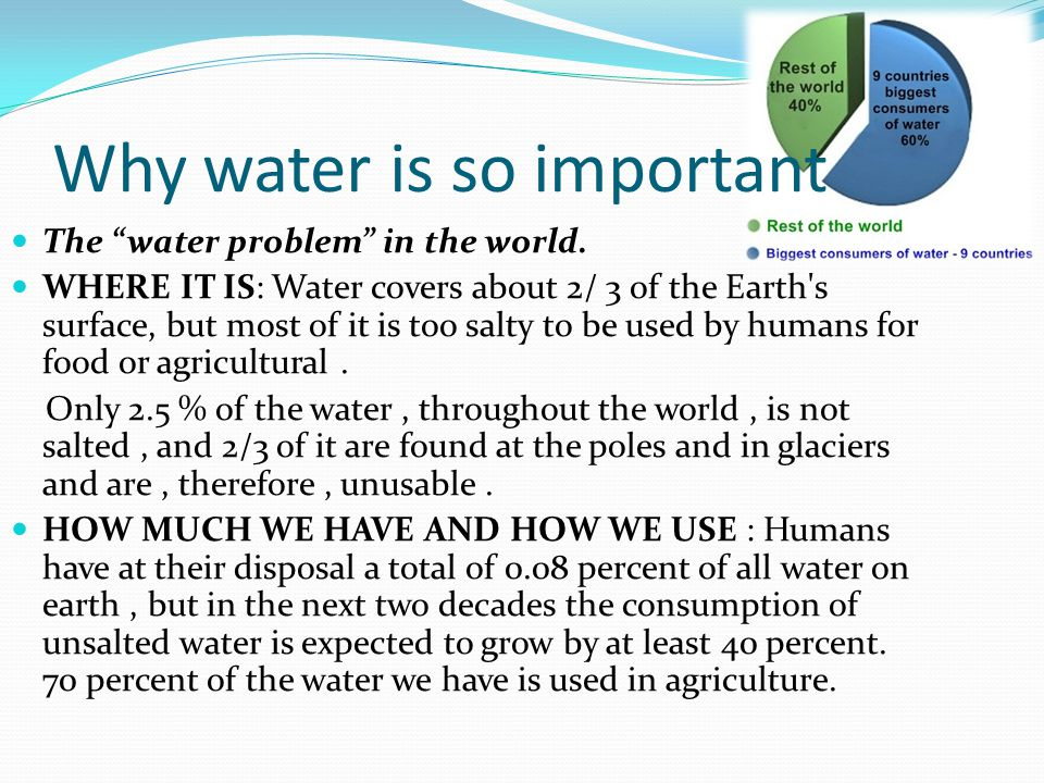 a report on the importance of water consumption management and control Drinking water may speed weight loss report that water consumption increases the could have important implications for weight-control.