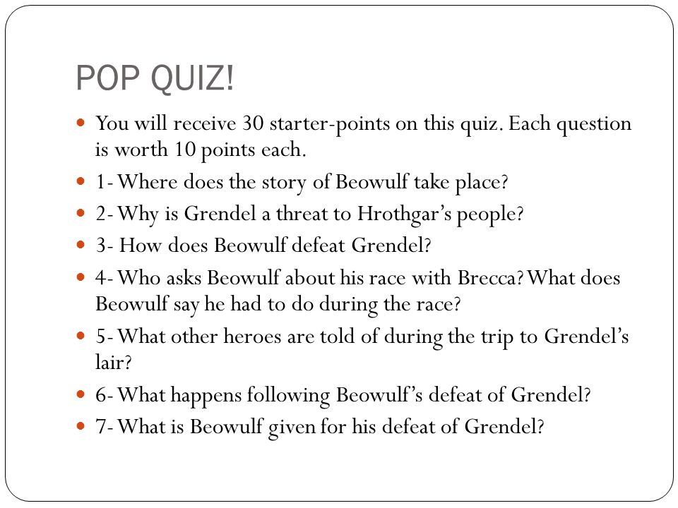 Questions about beowulf the novel?